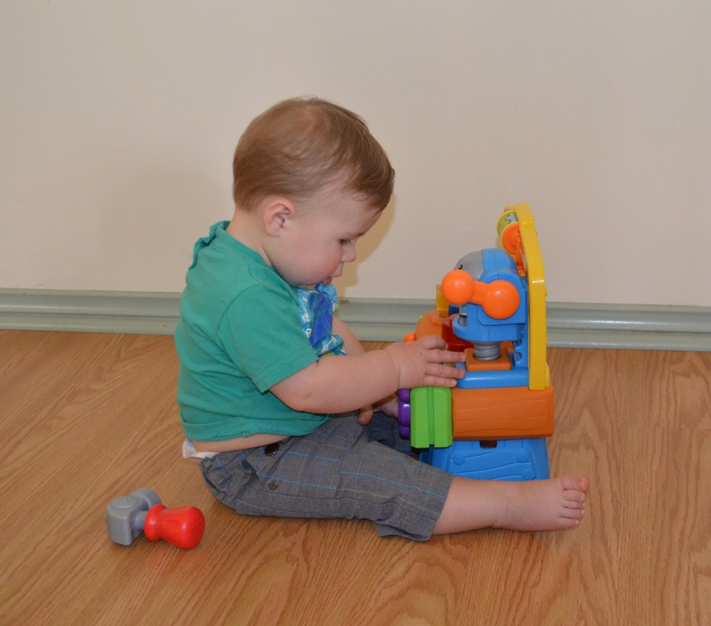 Adam loved his Fisher Price Workbench